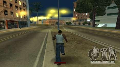 O indicador de execução rápida para GTA San Andreas por diante tela