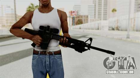 M16 Sniper para GTA San Andreas terceira tela
