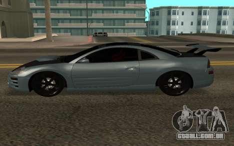 Mitsubishi Eclipse GTS para GTA San Andreas esquerda vista