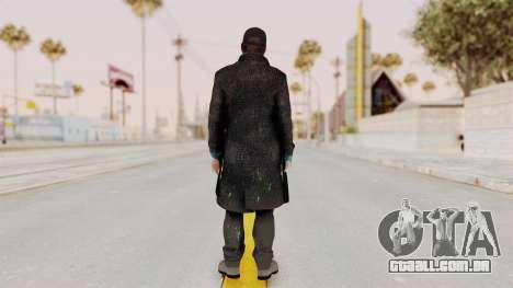 Watchdogs Aiden Pierce DedSec Outfit para GTA San Andreas terceira tela