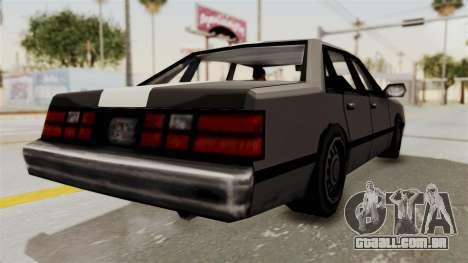 Stanier Turbo para GTA San Andreas vista direita