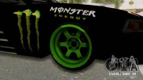 Ford Mustang 1999 Drift Monster Energy Falken para GTA San Andreas vista traseira