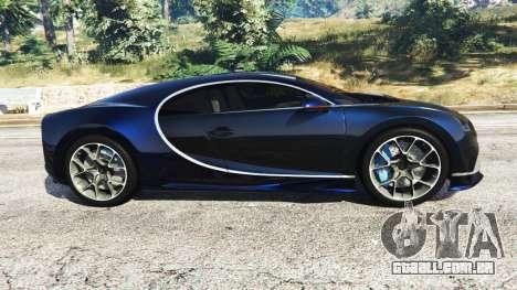 GTA 5 Bugatti Chiron vista lateral esquerda