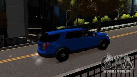 Ford Explorer 2013 para GTA 4 vista de volta