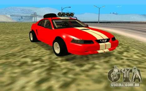 Ford Mustang 1999 para GTA San Andreas vista direita