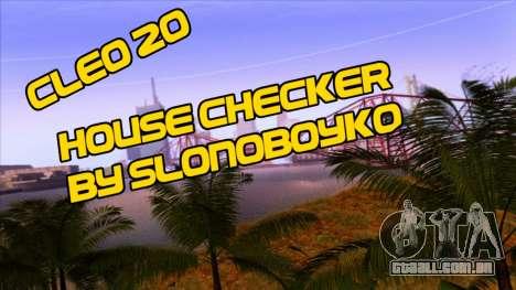 House Checker para GTA San Andreas