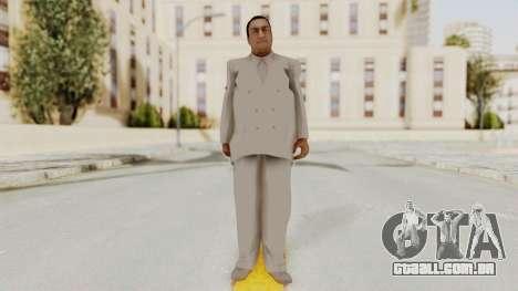 Taher Shah White Suit para GTA San Andreas segunda tela