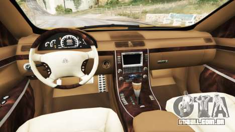 GTA 5 Maybach 62 S traseira direita vista lateral