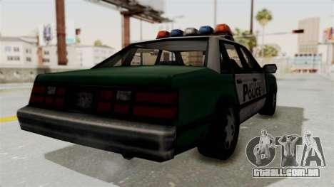 GTA VC Police Car para GTA San Andreas esquerda vista