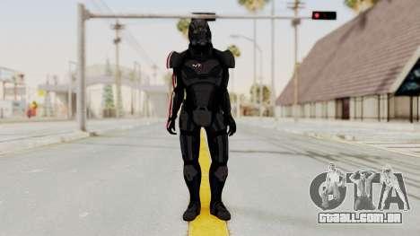 Mass Effect 2 Shepard Default N7 Armor Helmet para GTA San Andreas segunda tela