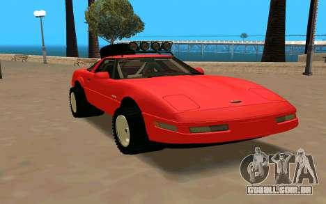 Chevrolet Corvette C4 para GTA San Andreas vista direita