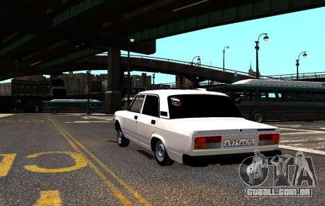 VAZ 2107 AzElow para GTA 4 vista lateral