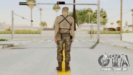 MGSV Phantom Pain Rogue Coyote Soldier Shirt v1 para GTA San Andreas terceira tela