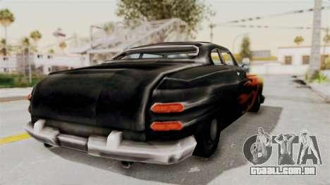 Beta VC Cuban Hermes para GTA San Andreas traseira esquerda vista