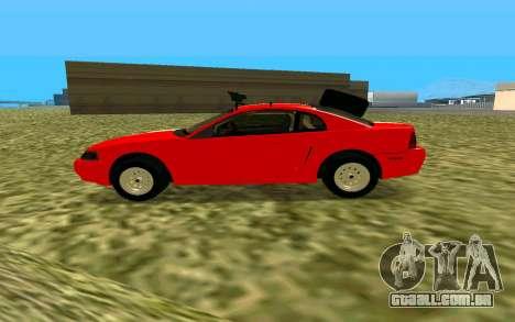 Ford Mustang 1999 para GTA San Andreas traseira esquerda vista