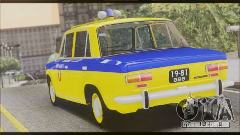 VAZ 2101 para GTA San Andreas vista inferior