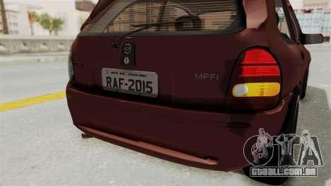 Chevrolet Corsa Hatchback Tuning v1 para GTA San Andreas interior