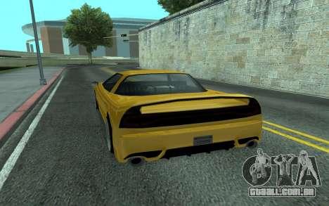 BlueRay's V9 Infernus para GTA San Andreas traseira esquerda vista