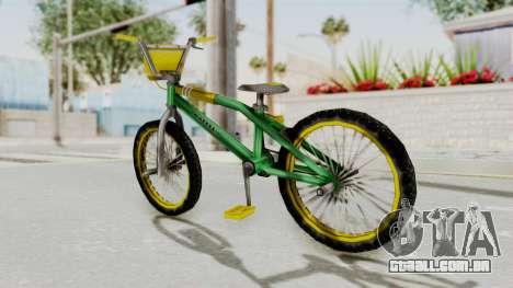 Bully SE - BMX para GTA San Andreas traseira esquerda vista
