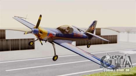 Zlin Z-50 LS Redbull para GTA San Andreas traseira esquerda vista