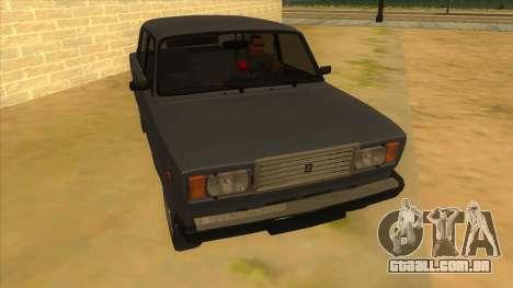 VAZ 2107 RÚSSIA para GTA San Andreas vista traseira