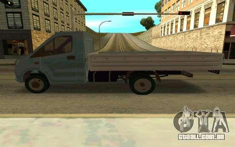 Gazela SEGUINTE para GTA San Andreas esquerda vista