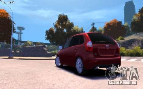 Lada Kalina 2 para GTA 4 esquerda vista