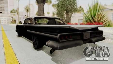 Voodoo Limited Edition para GTA San Andreas esquerda vista
