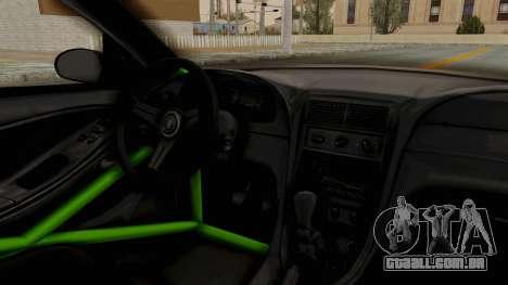 Ford Mustang 1999 Drift Monster Energy Falken para GTA San Andreas vista interior