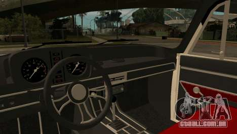 AZLK 412 para GTA San Andreas vista traseira