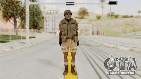 MGSV Phantom Pain CFA Vest v1 para GTA San Andreas segunda tela