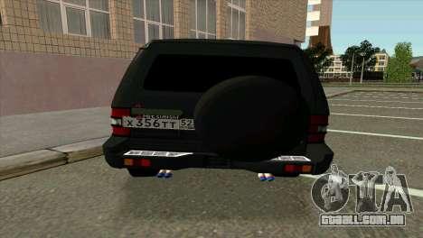 Mitsubishi Pajero v8 turbo para GTA San Andreas vista direita