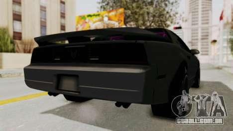 Pontiac Firebird 1982 Trans Am Drag para GTA San Andreas traseira esquerda vista