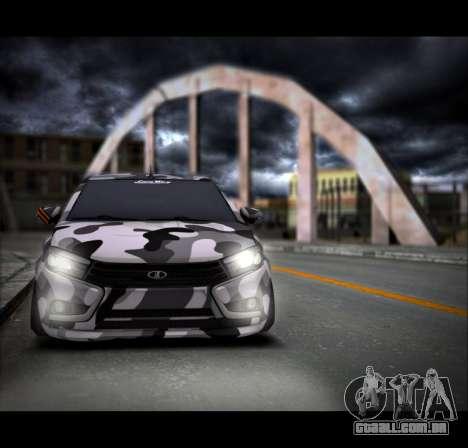 Lada Vesta Camouflage para GTA San Andreas traseira esquerda vista