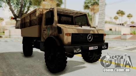 Mercedes-Benz Vojno Vozilo para GTA San Andreas vista direita