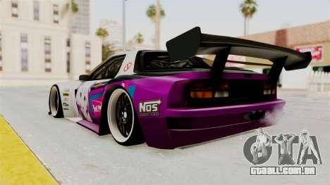 Mazda RX-7 FC Itasha para GTA San Andreas esquerda vista