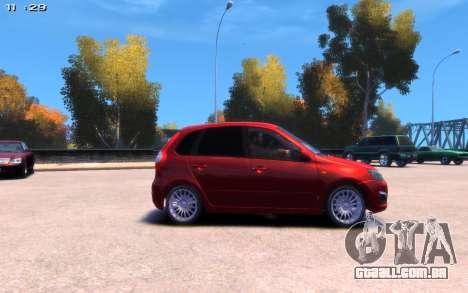 Lada Kalina 2 para GTA 4 traseira esquerda vista