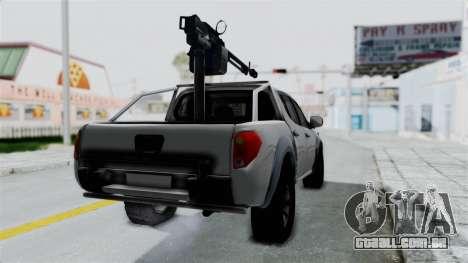 Mitsubishi L200 Army Libyan para GTA San Andreas traseira esquerda vista