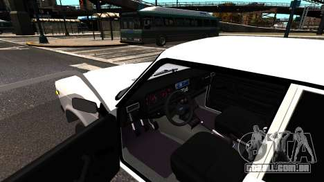 VAZ 2107 AzElow para GTA 4 vista direita
