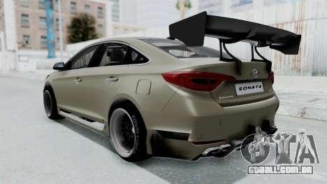 Hyundai Sonata LF 2.0T 2015 v1.0 Rocket Bunny para GTA San Andreas esquerda vista