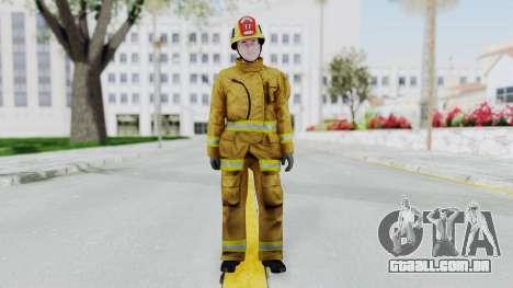 GTA 5 Fireman LV para GTA San Andreas segunda tela