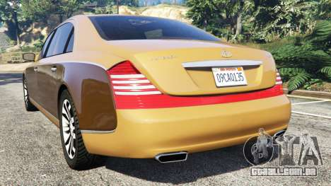 GTA 5 Maybach 62 S traseira vista lateral esquerda