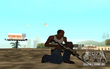 Golden weapon pack para GTA San Andreas sexta tela