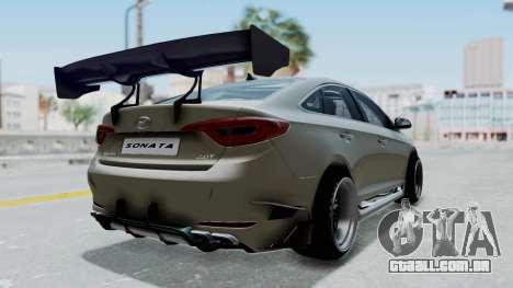 Hyundai Sonata LF 2.0T 2015 v1.0 Rocket Bunny para GTA San Andreas traseira esquerda vista