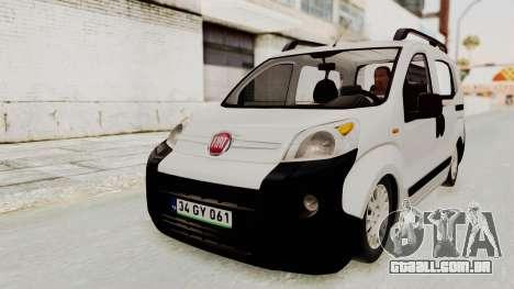 Fiat Fiorino 2014 para GTA San Andreas vista direita