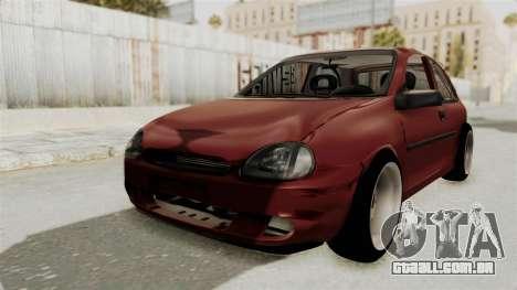 Chevrolet Corsa Hatchback Tuning v1 para GTA San Andreas traseira esquerda vista