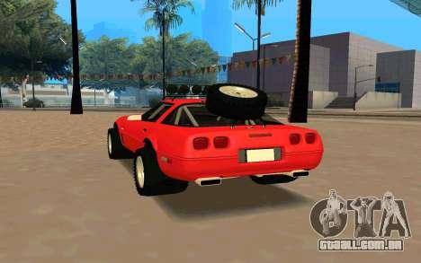Chevrolet Corvette C4 para GTA San Andreas traseira esquerda vista