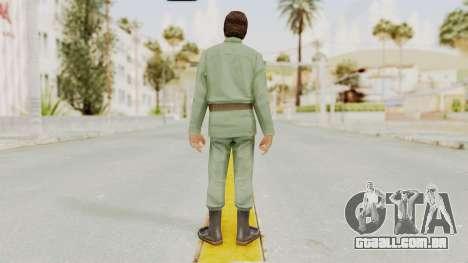 Scarface Tony Montana Army Costume para GTA San Andreas terceira tela