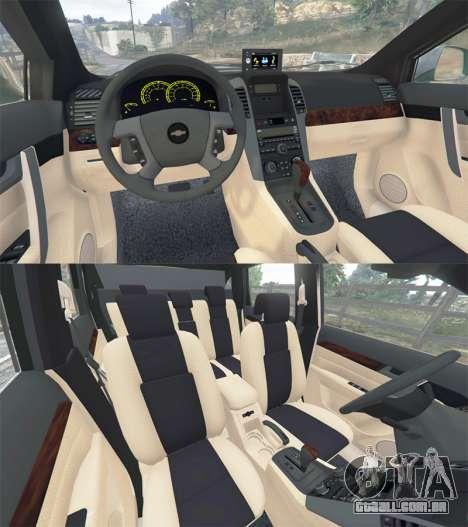 GTA 5 Chevrolet Captiva 2010 traseira direita vista lateral