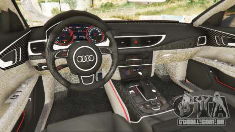 GTA 5 Audi A7 2015 traseira direita vista lateral